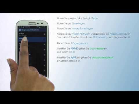 Lycamobile Schweiz - Mobiles Internet Einstellungen für Samsung