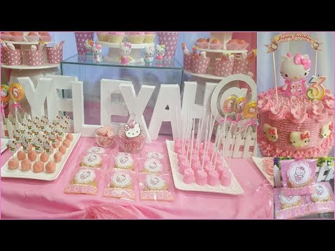 Hello Kitty Party Ideas | DIY Candy Buffet Dessert Table | Yelexah's 3rd Birthday Party!