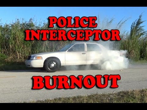 P71 Police Interceptor BURNOUT!