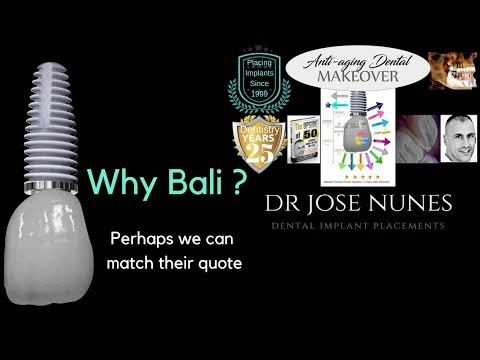 Why Bali? Perhaps we can match their quote - Perth Dental Implants costs $1450 1st stage