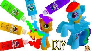 DIY Rainbow Dash My Little Pony - Easy MLP Custom Paint + Clay Craft Video