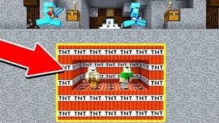 UNDERGROUND MINECRAFT TNT TROLL! (Minecraft Trolling)