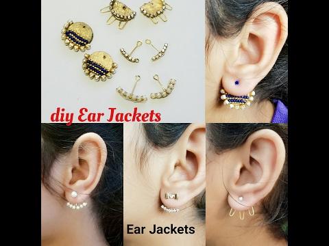 How To Make Back Stud Earrings|Double sided Ear studs|Ear cuff