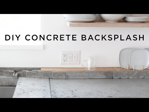 DIY Concrete Backsplash and Dish Rack