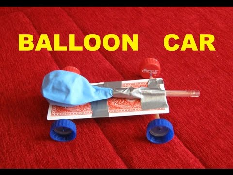 How to make a balloon powered car - SCIENCE PROJECT