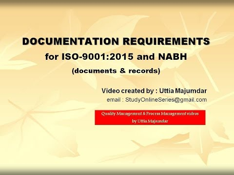 Documentation Requirements for ISO 9001:2015 and NABH