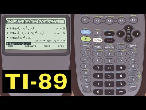 TI-89 Calculator - 06 - Calculating the Max and Min of a Function