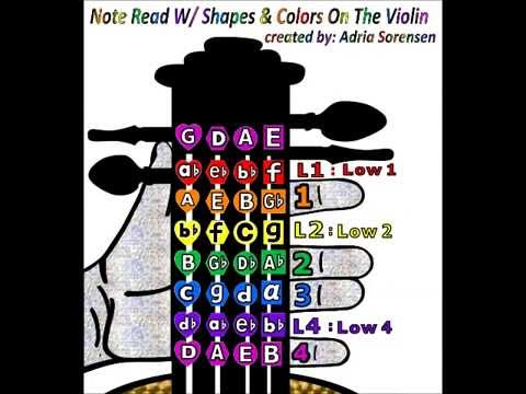 flats and Sharps Violin With Shapes And Colors Video