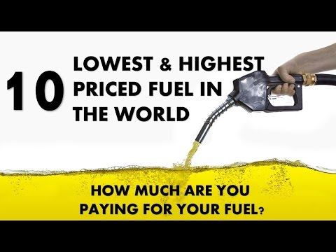 10 CHEAPEST & MOST EXPENSIVE Petrol / Diesel priced COUNTRIES