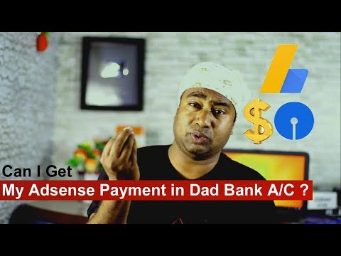 Can I receive Google AdSense payments to some one else bank account i.e friends or relatives