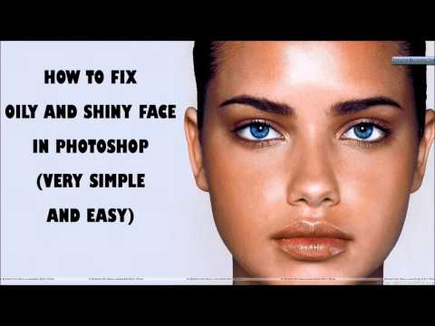 How to fix oily and shiny face in Photoshop (Very Simple and Easy)