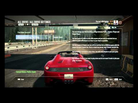 Need for speed Rivals : How to change session