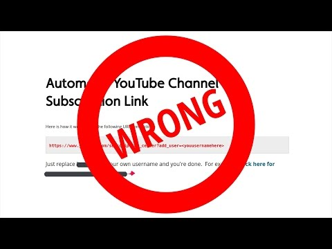 YouTube SUBSCRIBE Link 2017 ACTUALLY WORKS