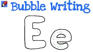 How to Draw Bubble Writing Real Easy Letter M Kharasach