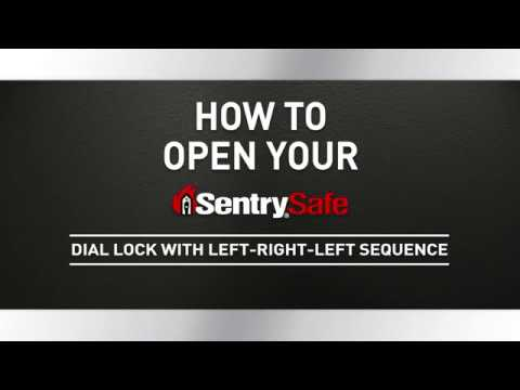 How to Open a Sentry®Safe Combination Dial Fire Safe, with Left-Right-Left Sequence