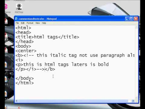 how to create comment_and text color html part4