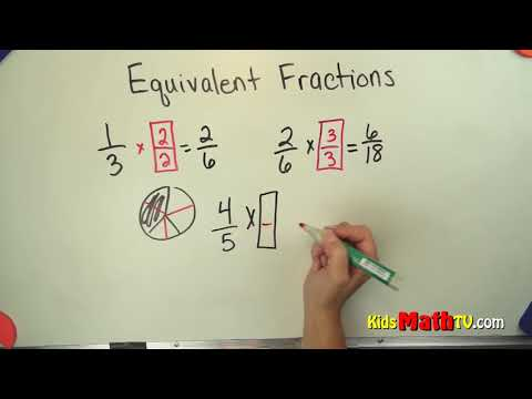 How to find missing values in equivalent fractions video tutorial