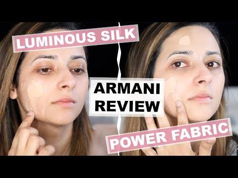 GIORGIO ARMANI FOUNDATION REVIEW + DEMO   Luminous Silk vs Power Fabric   Ysis Lorenna