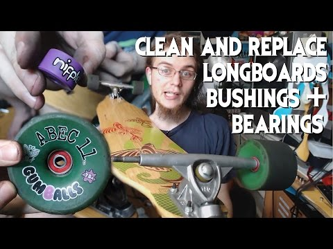 How To Clean Longboards & Replace Bushings/Bearings