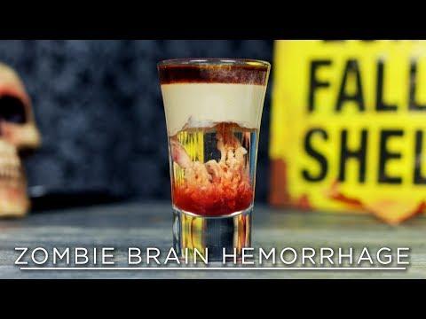 Zombie Brain Hemorrhage (recipe by Spirit Cocktails) | 31 DAYS OF #HALLOWEEN