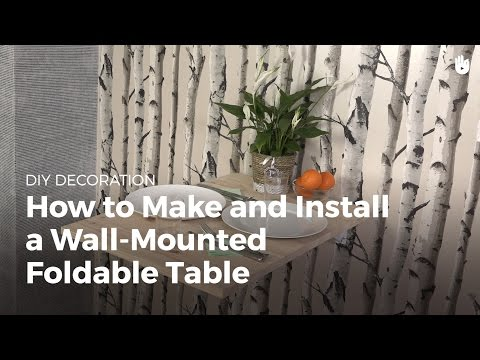 How to Make and Install a Wall-Mounted Folding Table | DIY Projects
