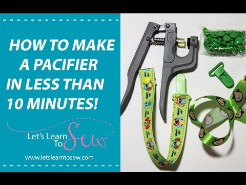 How To Make A Pacifier Clip From Ribbon