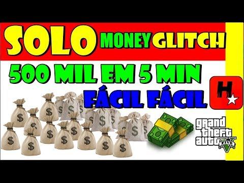 GTA 5 online Money Glitch SOLO $ 500 MIL em 5 MIN | Super Easy Solo Money Glitch