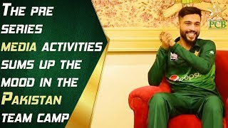 The pre-series media activities sums up the mood in the Pakistan team camp.