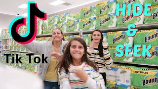 MAKING TIK TOKS AND HIDE AND SEEK IN TARGET! EMMA AND ELLIE