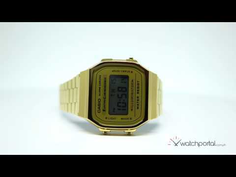 Casio Vintage A168WG-9WDF Gold Plated Stainless Steel Watch For Women
