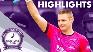 Wright Makes Record-Breaking 166! | Middlesex v Sussex | Royal London One-Day Cup 2019 – Highlights