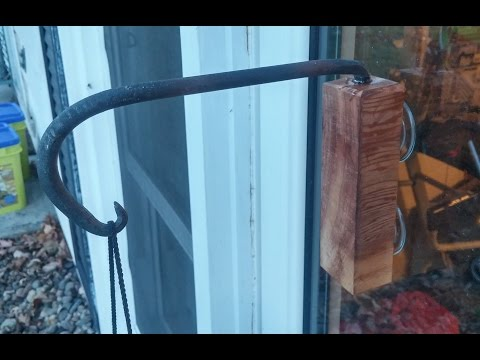 Forging and Crafting a Window Bird Feeder Hanger