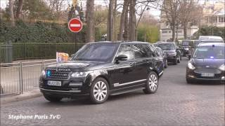 Prince Harry and Kate Middleton in Range Rover in Paris