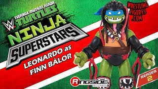 WWE FIGURE INSIDER: Leonardo as Demon Finn Balor - TMNT / WWE Ninja Superstars 2 Toy Action Figure