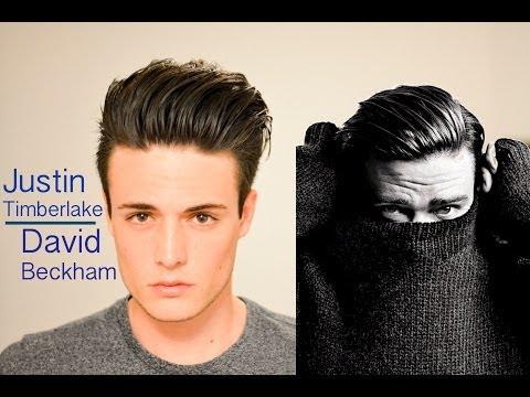 David Beckham/Justin Timberlake Inspired Hairstyle tutorial - Modern Slick Back