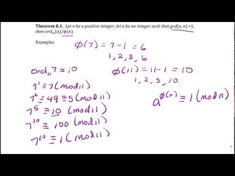 Order of Integers and Primitive Roots