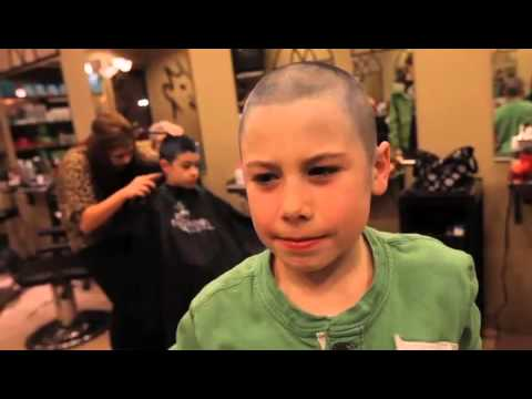 Kids Shave Heads For Make A Wish Foundation