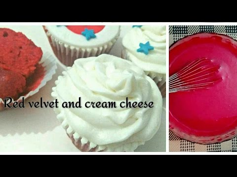 How to make Red Velvet Cupcakes with Cream cheese Frosting Recipe.