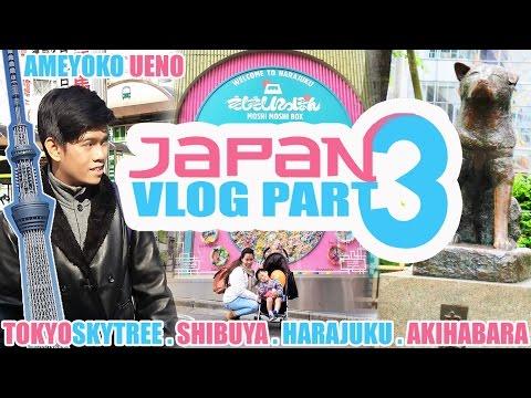 JAPAN VLOG PART 3: TOKYO SKYTREE, SHIBUYA,HARAJUKU,AKIHABARA,UENO AMEYOKO - DAY 4,5,6 AND 7
