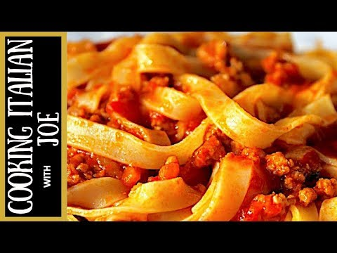 Bolognese Ragu Pasta Sauce Cooking Italian with Joe