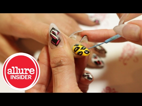 DIY Animal Print Nail Design