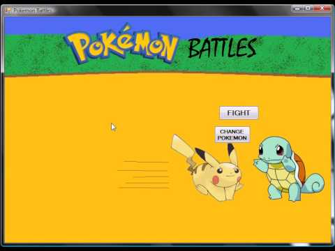 Pokemon Game Visual Basic