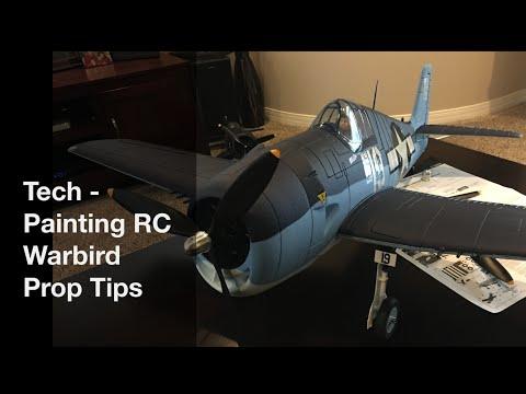 Tech - Painting RC Warbird Prop Tips