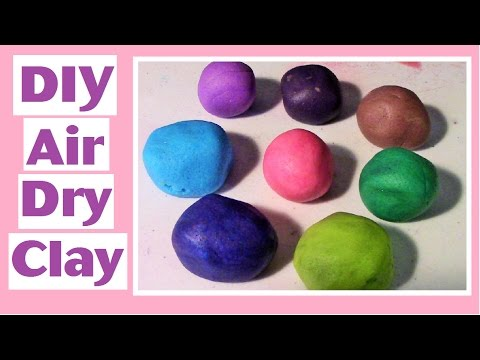DIY Air Dry Clay - Flour, Corn Starch, Salt - No Cooking