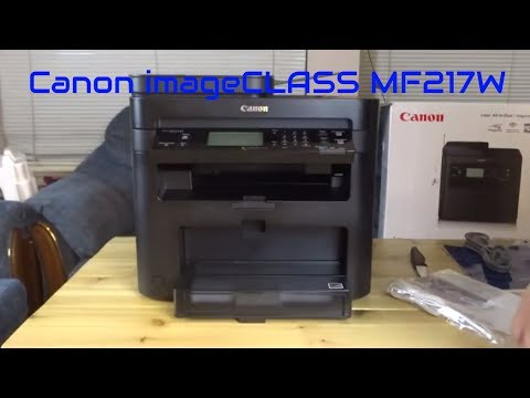 Canon imageCLASS MF217w New unboxing setup and first run canon printer