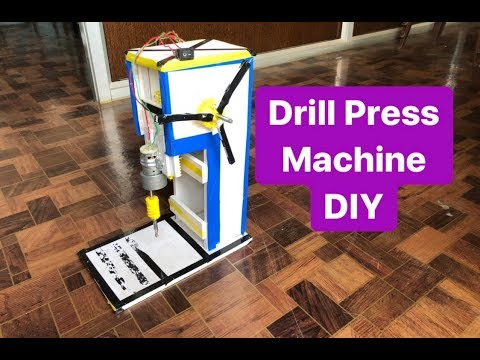 how to make drill press machine at home   DIY