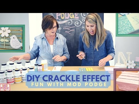 How to Make a Crackle Effect Using Mod Podge!