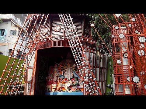 Shiv mandir Durga Puja 2015 unique theme 'Benimadhab panjika'