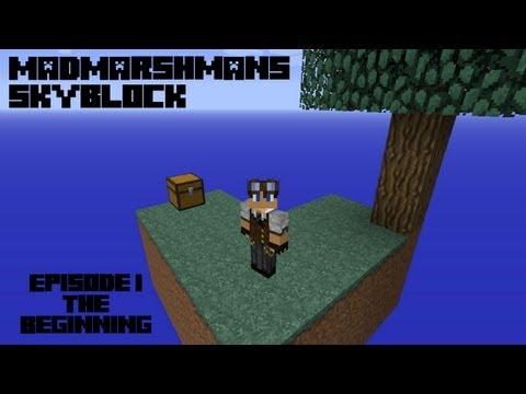 Madmarshmans Skyblock - Episode 1 - The Beginning