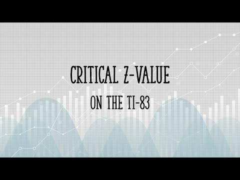 How to find a critical z value on the TI83